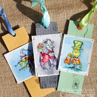 Make a Cute Halloween Bookmark Trio with Memento Ink