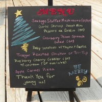 Christmas Planning with a Fun Blackboard Menu