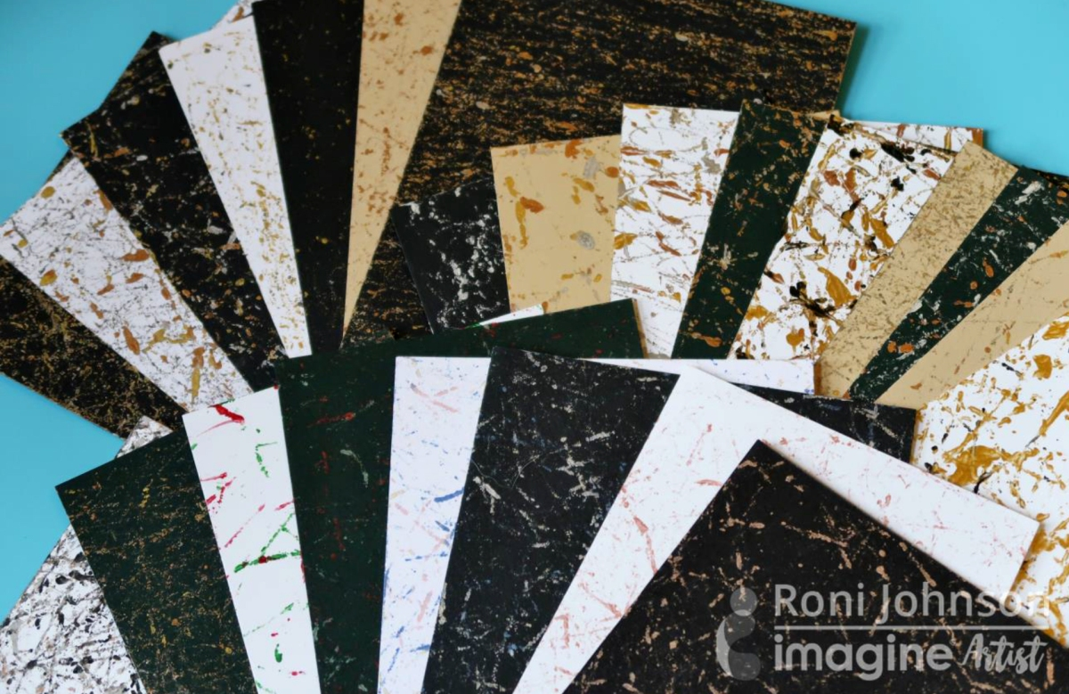 Learn How to Make Marbled Paper with Delicata Inkers