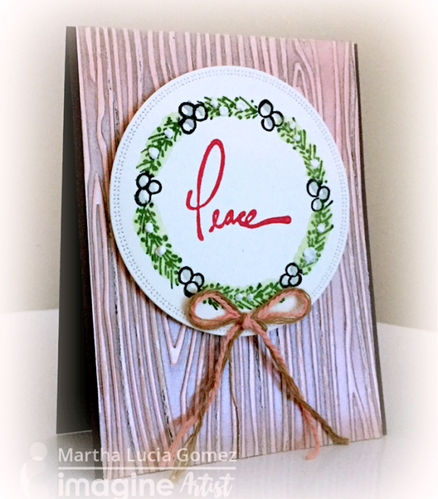 On this project, I used Delicata and Memento Markers with two different stamping techniques. I divided the making of this card into two steps. It's a simple process and so fun to make!