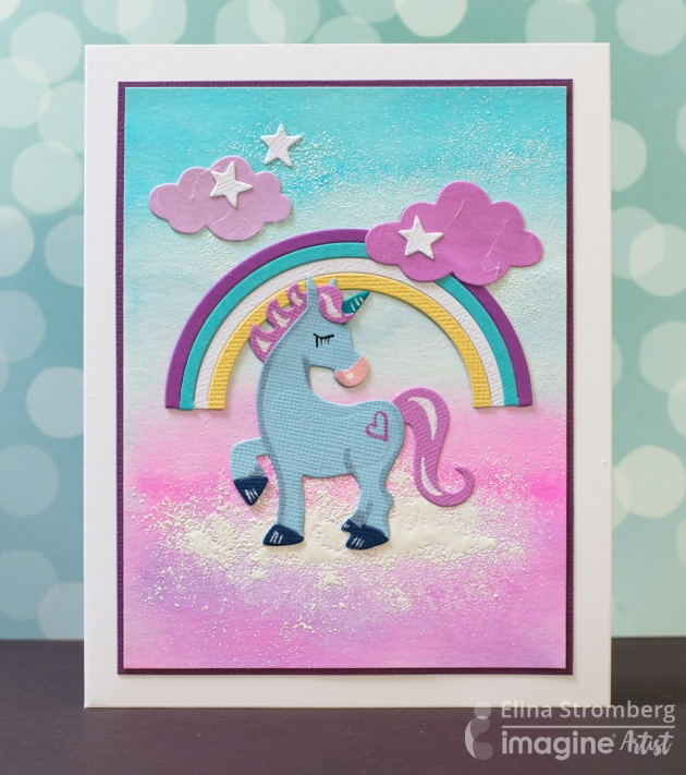 Do you Dream of Cotton Candy? Make a cotton candy theme unicorn card