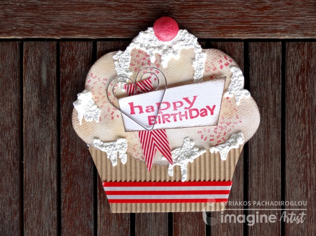Craft a Paper Cupcake Happy Birthday Card with Delicata Ink and Amplify Texture