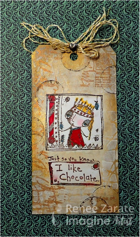 I Like Chocolate Whimsical Style Halloween Tag