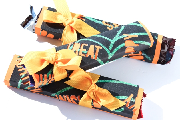 Watch a Video on How to Make Trick or Treat Candy Wraps