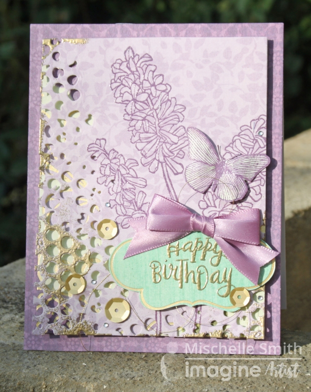 Layered Embossing Happy Birthday Card Sizzix – Thinlits Die Set 4PK Mixed Media