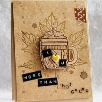 Turn a Pre-printed Card into a Perfect Fall I Love You