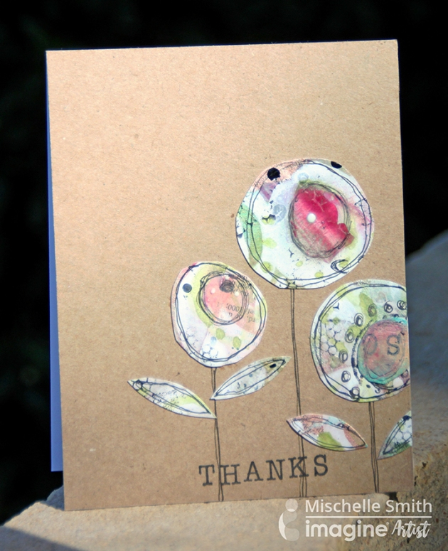 Reuse Scraps to Make a Fresh Mixed Media Card