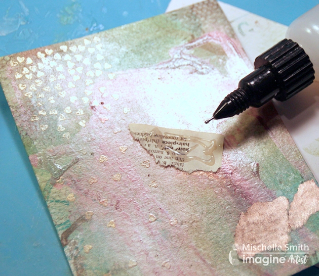 Attach paper scraps with On Point Glue