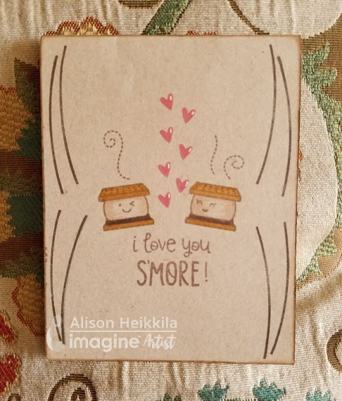 'I Love You S'More' Handmade Card by Alison Heikkila