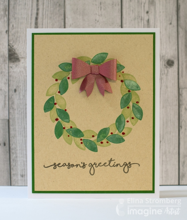 Stamp an Easy and Creative Seasons Greetings Card