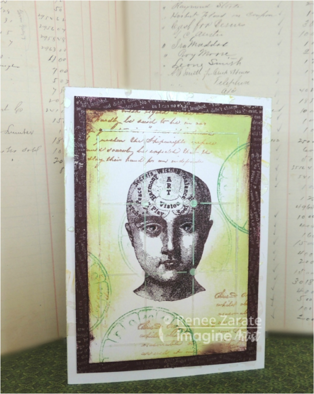 Make a Cool Steampunk Greeting Card with StazOn, Memento ink and Delicata ink.