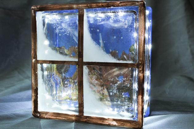 Tips On How To Create A Diy Glass Block Winter Scene Imagine Blog