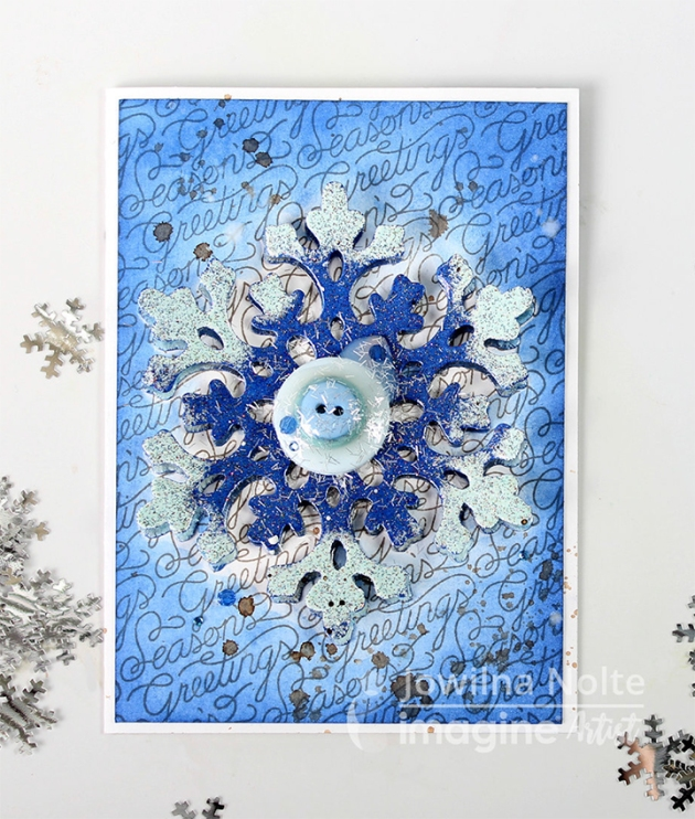 Learn How to Emboss a Snowflake for a Holiday Card by Jowilna Nolte