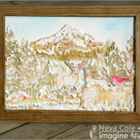 Create a Beautiful Mountain Landscape with Stamps