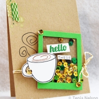 Say Hello with this Cute and Simple Shaker Card