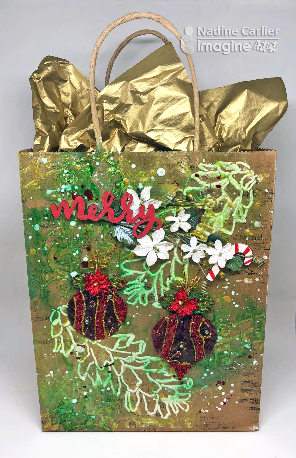 Mixed Media Gift Bag by Nadine Carlier ic