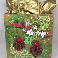 How To Make A Mixed Media Gift Bag