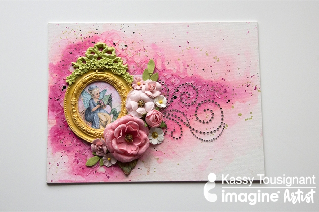 Watch a Video on How to Make a Feminine Valentine Canvas using Fireworks Shimmery Craft Spray in Angel Pink. Video by Kassy Tousignant