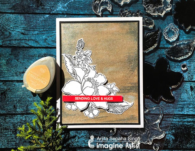 How to Make a Raw Silk Texture and a Simple Card