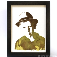 Design a Watercolor Portrait with Walnut Inks