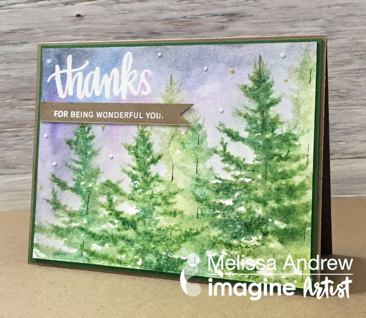 Create a Watercolor Effect with Stamping