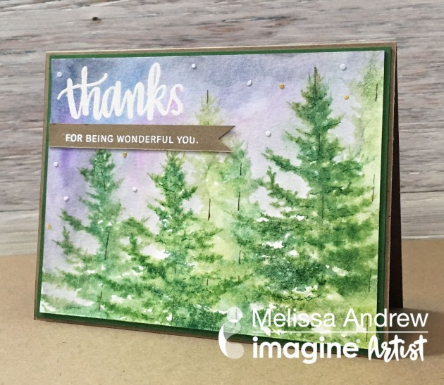 watch a video on how to Create a Watercolor Effect with Stamping by Melissa Andrew