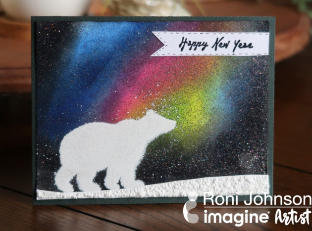 Make a Beautiful Northern Lights Theme Greeting Card