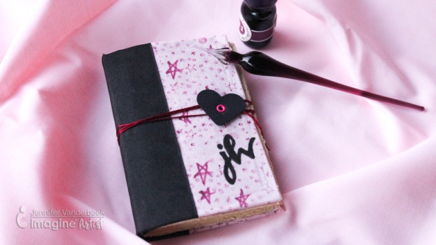 How to Make a Notebook Cover with Fabric by Jennifer Vanderbeek.
