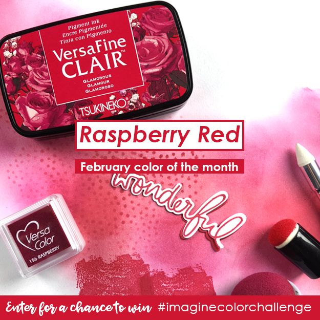 Color of the Month for February is Raspberry Red
