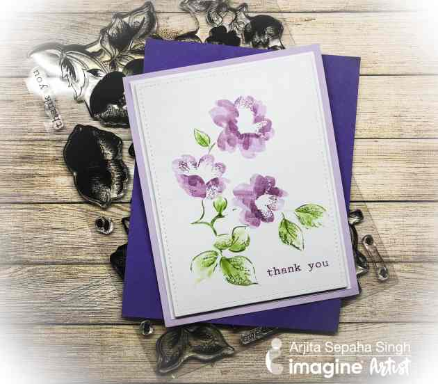 Stamping Techniques with Lavender Blooms + Memento Markers