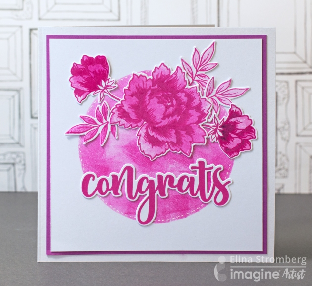 Elina Stromberg has created a Congrats card using VersaFine Clair.