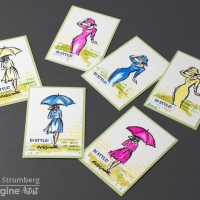 Make a Set of Shimmery Fashion ATC Cards