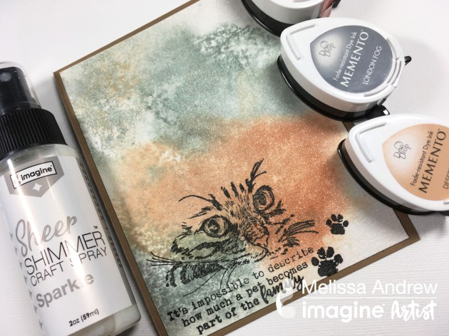 Use Shimmer Craft Spray To Create a Watercolor Effect