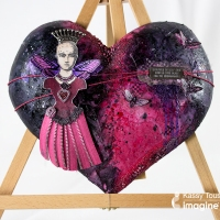 Learn How to Make a Moth Queen Mixed Media Heart
