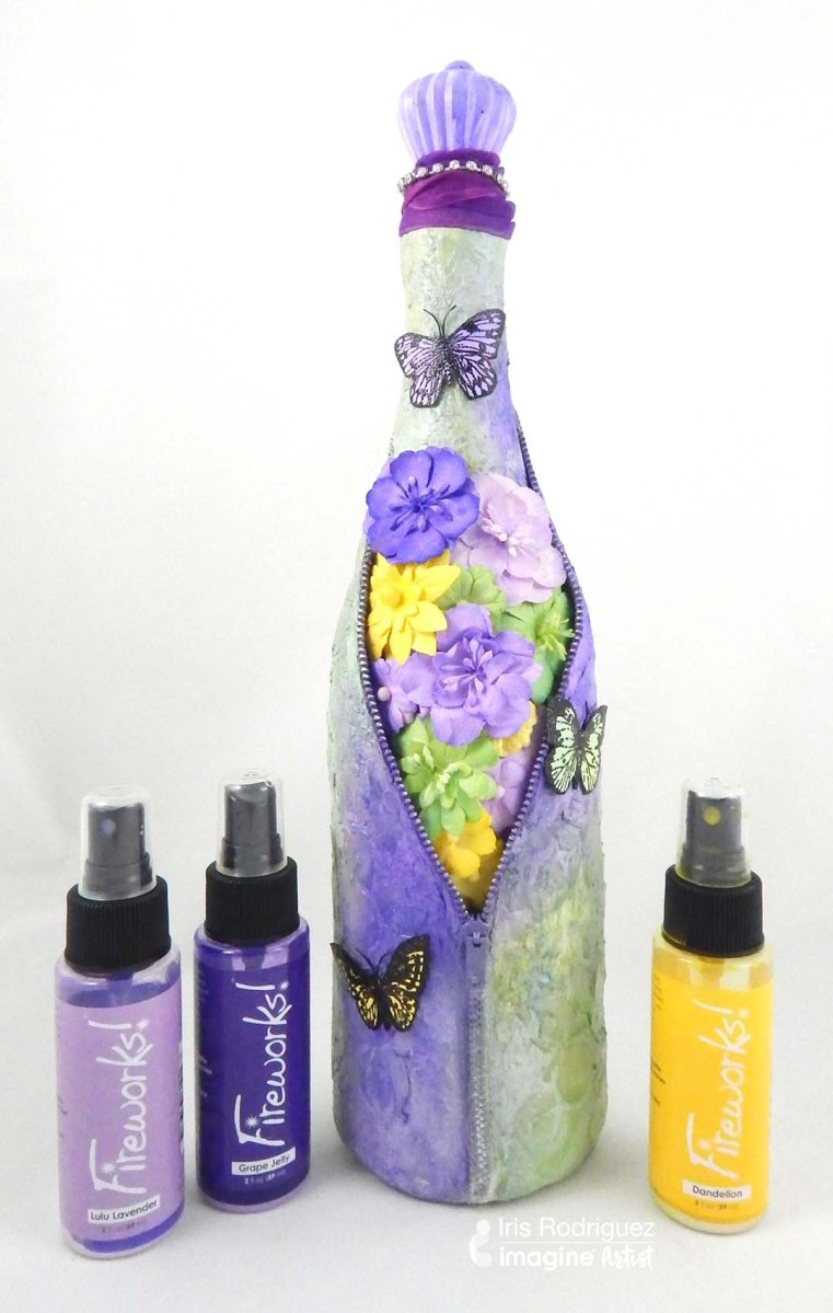 Learn How to Upcycle Wine Bottles with Paper Mache