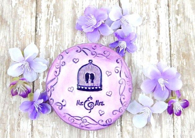 Create Lovely Wedding Gift Out of Polymer Clay Ultraviolet color