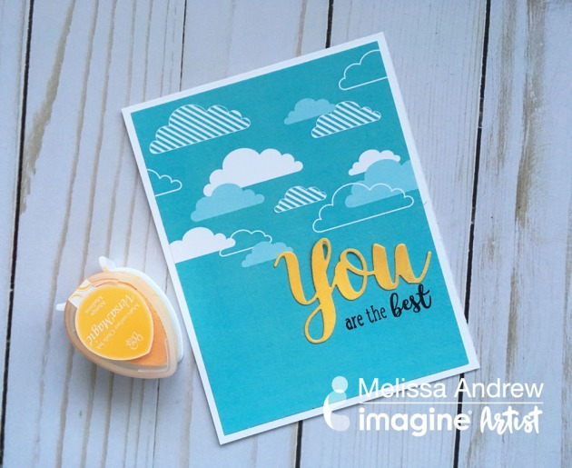"Use Creative Medium Shimmer to Add Sparkle and Shine. create a simple and easy ""You are the Best"" greeting card using Creative Medium in Shimmer and VersaMagic in Mango Madness"