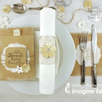 A Simple, Elegant and Inexpensive Wedding Table Setting