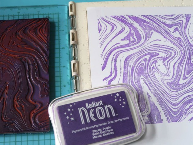 Stamp with Radiant Neon Electric Purple.