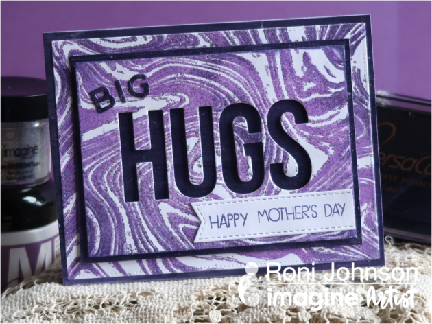 Create an Ultraviolet Mother's Day Hugs Card