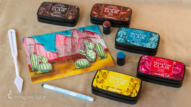 How To Paint a Desert Scene With Versafine Clair