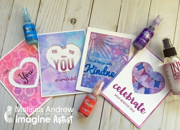 Use Ink Potion No. 9 to Make Creative Card Backgrounds