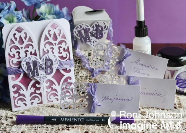 See How to Create Wedding Invitation, Place Cards, Favor Box