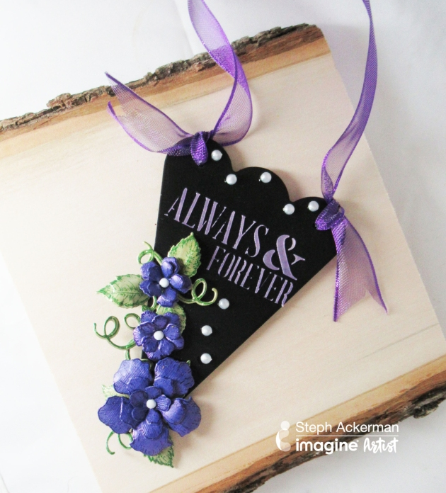 "Create An Elegant ""Always & Forever"" Wedding Sign using a Purple Theme"
