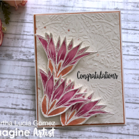 "Design a Beautiful Floral ""Congratulations"" Card for a Wedding"