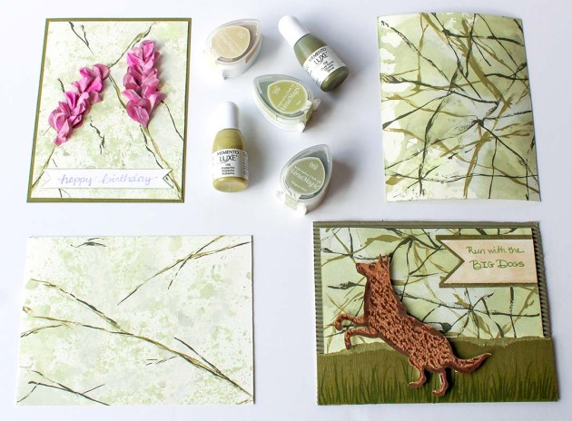 Watch a Video on How to Create a Marbling Look with a Feather Quill