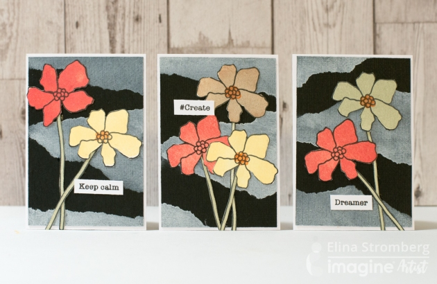 Make a Gorgeous Set of Cards with Floral Theme with VersaMagic Ink