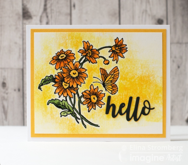 """Create a Sunny """"Hello"""" Card for a Good Friend with Memento DewDrops"""