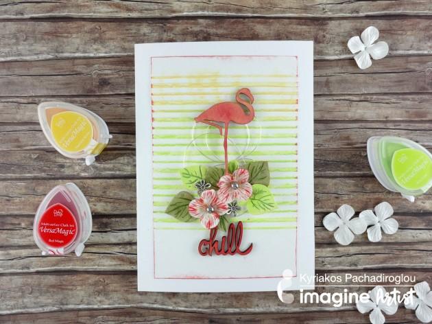 Create a Fun and Fabulous Summertime Flamingo Card with VersaMagic inkpads