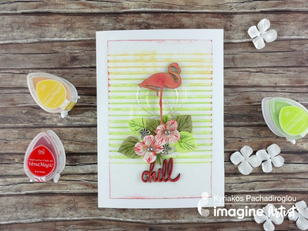 Create a Fun and Fabulous Summertime Flamingo Card with VersaMagic inkpads